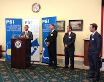 Cong Jolly speaks at PSI reception